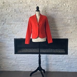 Red Orange Gap Blazer